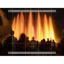 Fuente luminosa-Barcelona alta